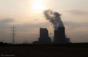 Met bruinkool gestookte elektriciteitscentrale van RWE in Duitsland