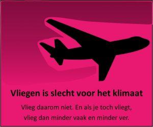Vliegen is slecht voor het klimaat